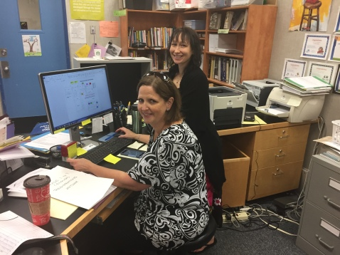 Ms. Balatti and Ms. Burden our wonderful office staff hard at work.
