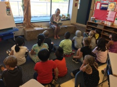 Storytime with Ms. Mitchell.