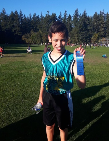 Our only gr 7 runner.