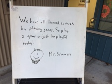 Mr. Simmers' welcome message.