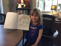 An author comes to visit.