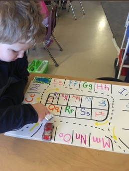 Learning letters through play.