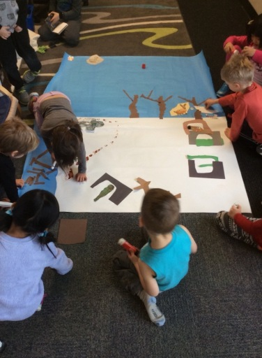 A group mural - winter habitats.